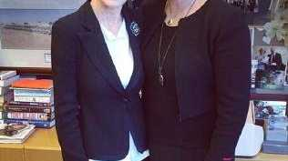 Julie Bishop with Deborra-Lee Furness.
