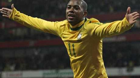 Brazil's Robinho has been sentenced to nine years in jail. Picture: AP