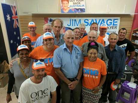 Jim Savage and his supporters conceded defeat around 9pm on Saturday evening.