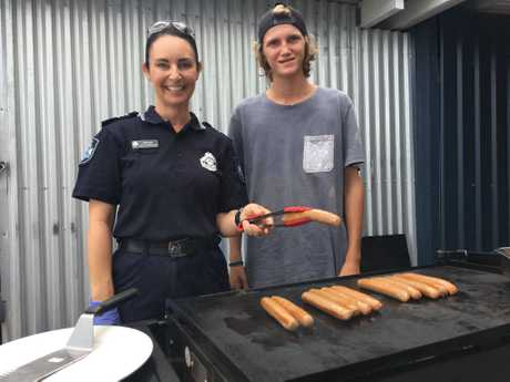 Sergeant Kelly Chamberlain with PCYC volunteer Alexis.