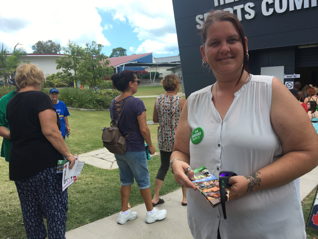 Greens candidate for Hervey Bay Jenni Cameron.
