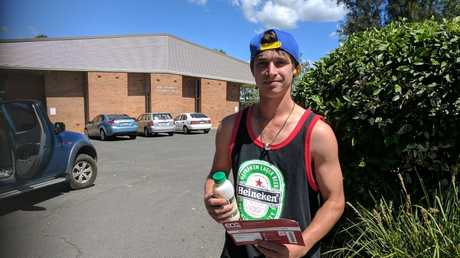 Dacoda Kirby was one of the few souls voting at Lockyer District High School on election day. He hadn't yet made his mind up about how to vote for, but said the inland rail project was a big issue to him.