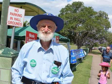 Greens Candidate Ian Simons at Lowood State High School Polling booths.