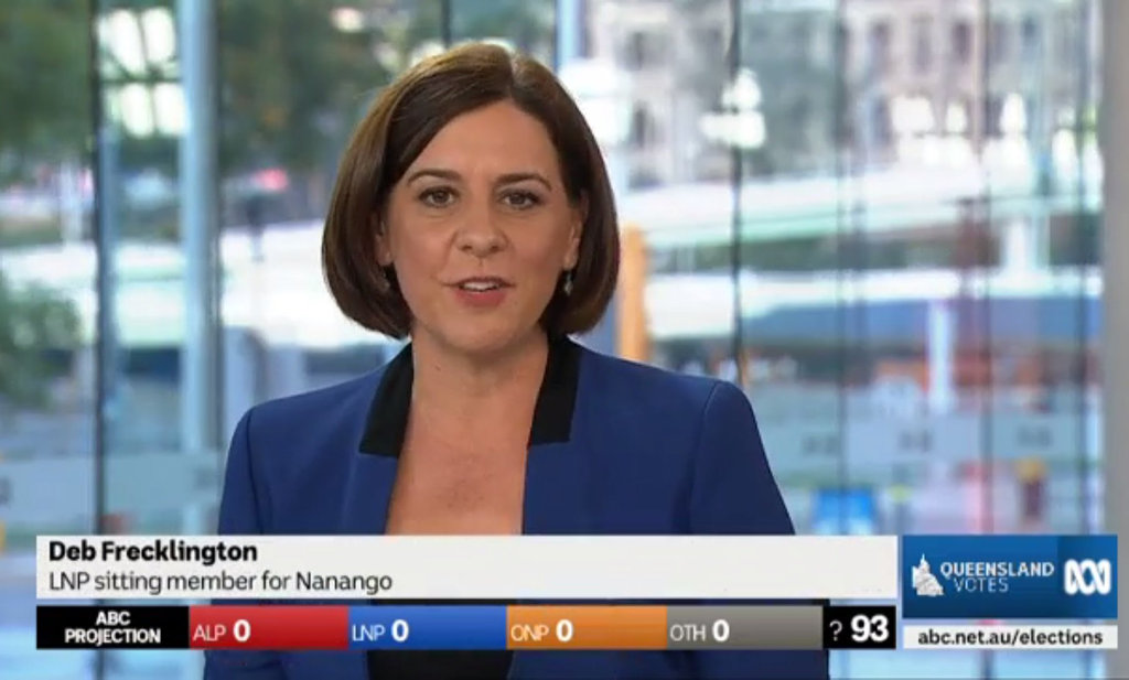 Member for Nanango and LNP candidate Deb Frecklington is on the ABC panel for their coverage of the Queensland State Election.