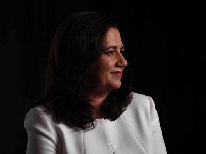 Queensland Premier Annastacia Palaszczuk addresses the Queensland Media Club in Brisbane, Friday, November 24, 2017. Ms Palaszczuk is on the campaign trail ahead of the state election.