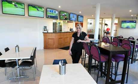 Rhiannon Pashley inside the Coral Cove Golf Club restaurant.