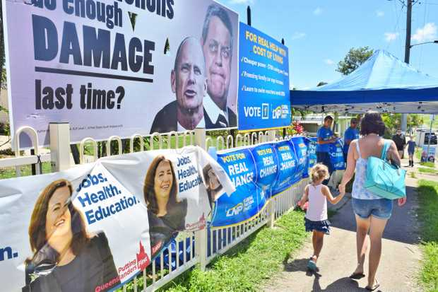 Eimeo Road State School on election day.