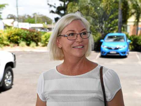 Leanne Donaldson at the South Bundaberg State School polling booth.