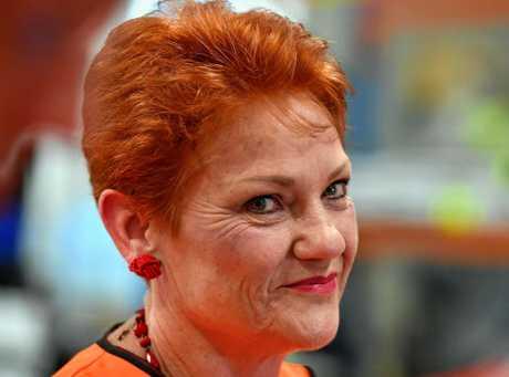 NOT ON THE BALLOT: Senator Pauline Hanson.