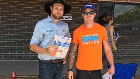 VOTING DAY: Keppel's One Nation candidate Matt Loth has had a good day.