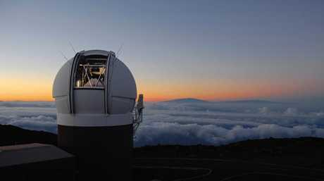 The Pan-STARRS1 Observatory on Haleakala, Maui, Hawaii. In October 2017, the telescope discovered an object from another star system that is passing through ours. Picture: Rob Ratkowski/University of Hawaii