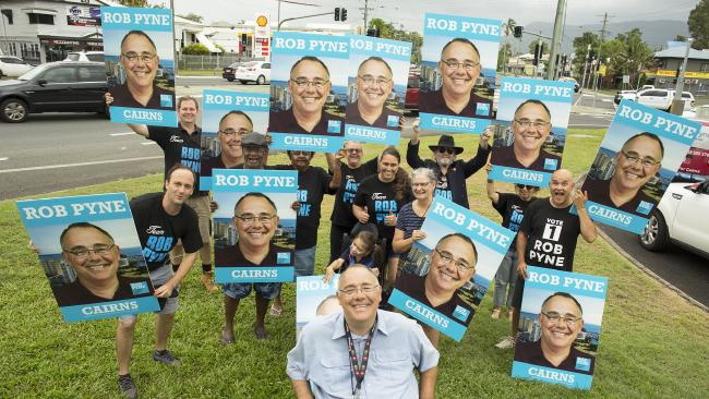 Cairns MP Rob Pyne has finished his campaigning for the day and will ring in tonight's vote tally at the Balaclava Hotel. PICTURE: MICHAEL WATT