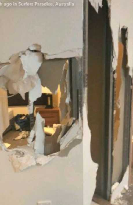 Inside the trashed Gold Coast apartment. Photo: Supplied