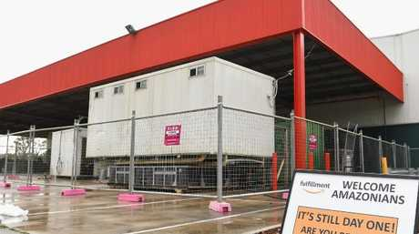 The site for Amazon's first Australian distribution centre in Dandenong, Victoria. Picture: Quinn Rooney/Getty Images