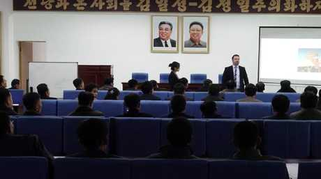 Statues and pictures of Kim Il-Sung and Kim Jong-il are everywhere in North Korea.