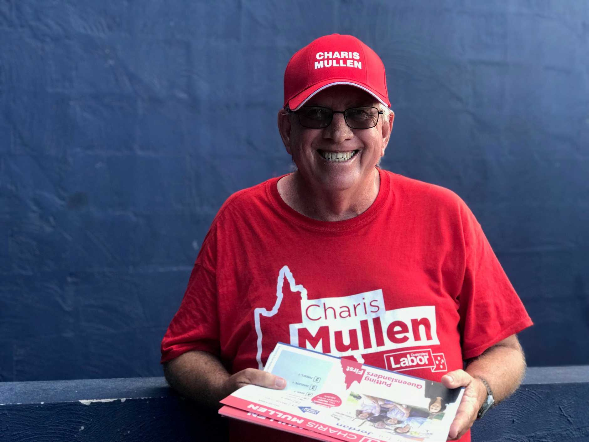 ELECTION LEGACY: ALP volunteer Ian Fraser at the Jordan polling booth.