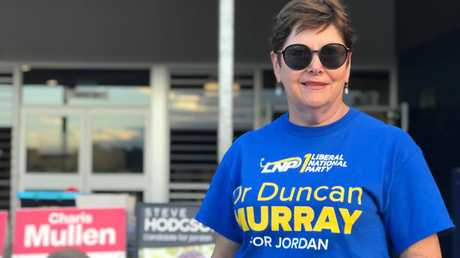 READY FOR ANYTHING: LNP volunteer Maree Franklin volunteered to help out in the seat of Jordan.
