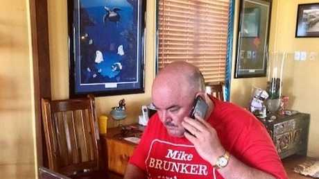 ALP candidate for Burdekin Mike Brunker watches the state election results from his Bowen home on Sunday.