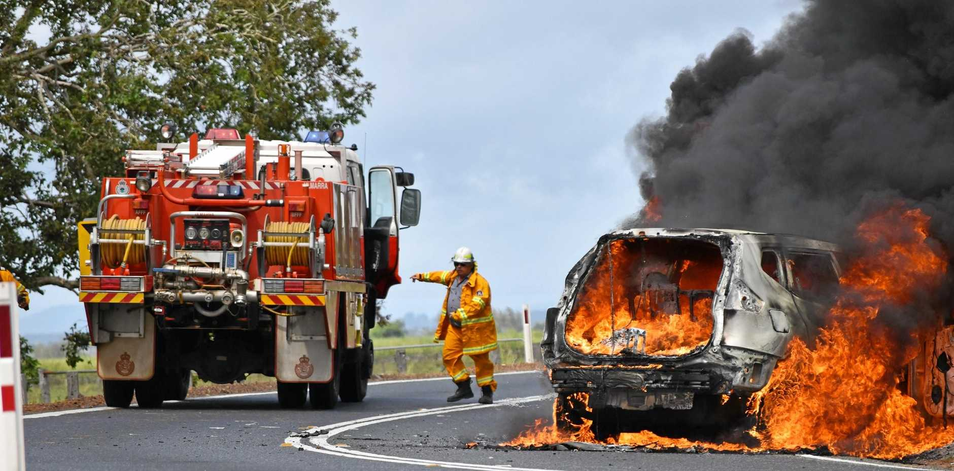 One of the many incidents that occur along the Ulmarra stretch of the Pacific Highway