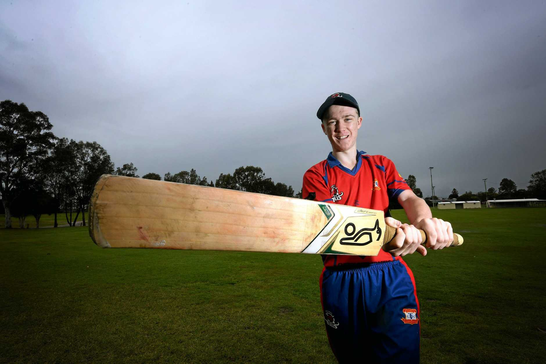 READY TO PLAY: Gympie cricketer Nick Laffey is set to represent Toombul in the Lord Taverners grand final early next month in Brisbane.