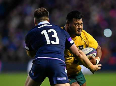 Taniela Tupou in action for the Wallabies.