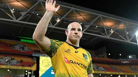 Stephen Moore acknowledges the crowd.