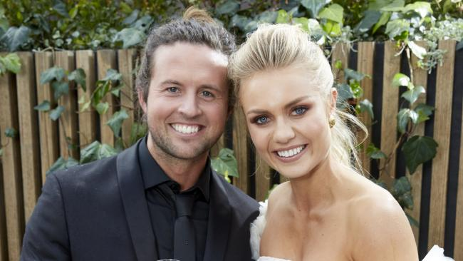 Josh Barker and Elyse Knowles are only in their 20s but have become successful property moguls. Picture: Channel Nine