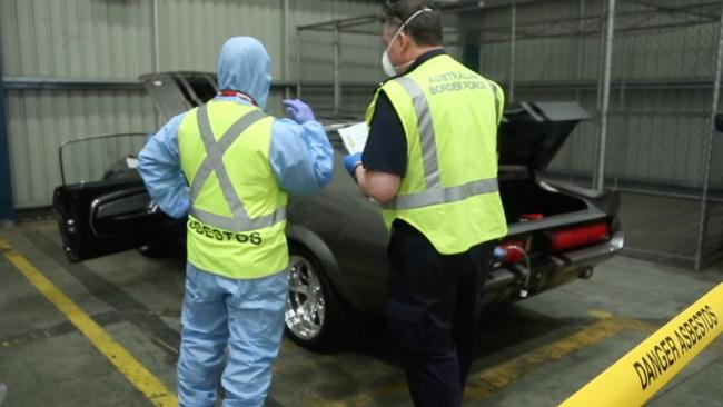 Australian Border Force has detected an increasing number of privately imported classic cars containing asbestos. Picture: Supplied.
