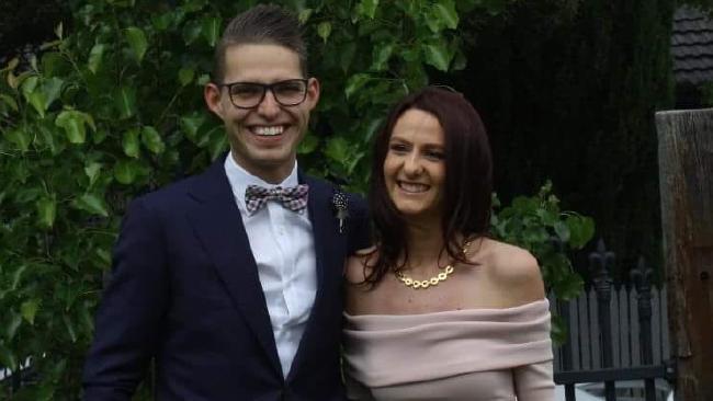 Lauren Brownlee with partner Ben Hollow.