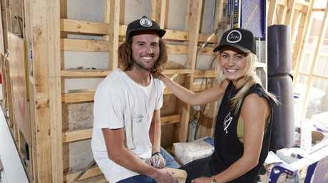 Josh Barker and Elyse Knowles. Picture: Channel 9