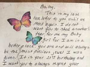 Dad's heartbreaking gift to daughter