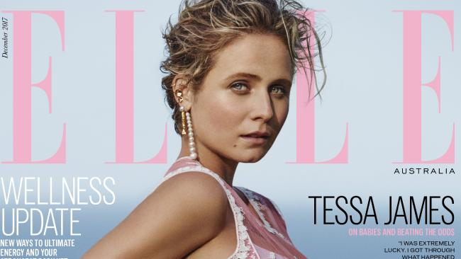 Tessa James, on the cover of the December 2017 issue of Elle.