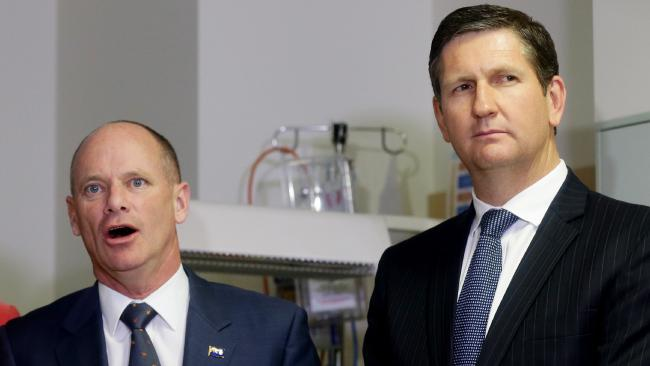 Former premier Campbell Newman (left) was a beneficiary of Lawrence Springborg's LNP.