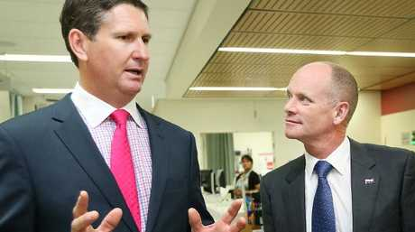 Former premier Campbell Newman (right) was a beneficiary of Lawrence Springborg's LNP.