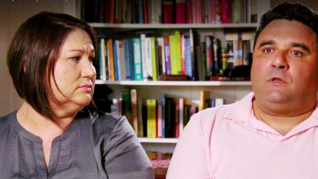 Melinda and Dhia Watson. Struggling with what to do with their IVF embryos. Picture: Channel 9