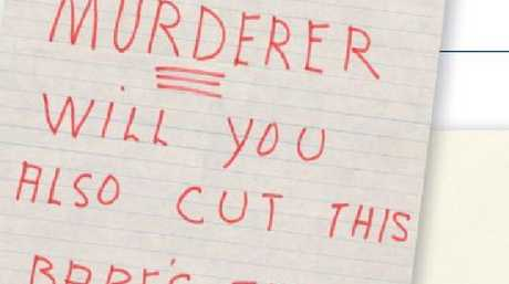 Even after she was exonerated and pregnant with her following three children, Lindy received shocking notes from the Australian public.