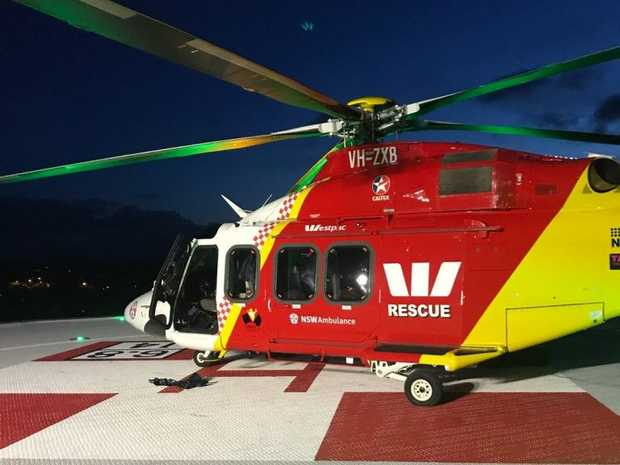 The Westpac Life Saver Rescue Helicopter transferred a 14-year-old boy from Lismore Base Hospital to Lady Cilento Hospital in Brisbane after a surfing incident at Sharpes Beach north of Ballina.