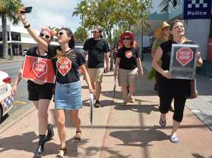 Stop Adani protesters march in Mackay.