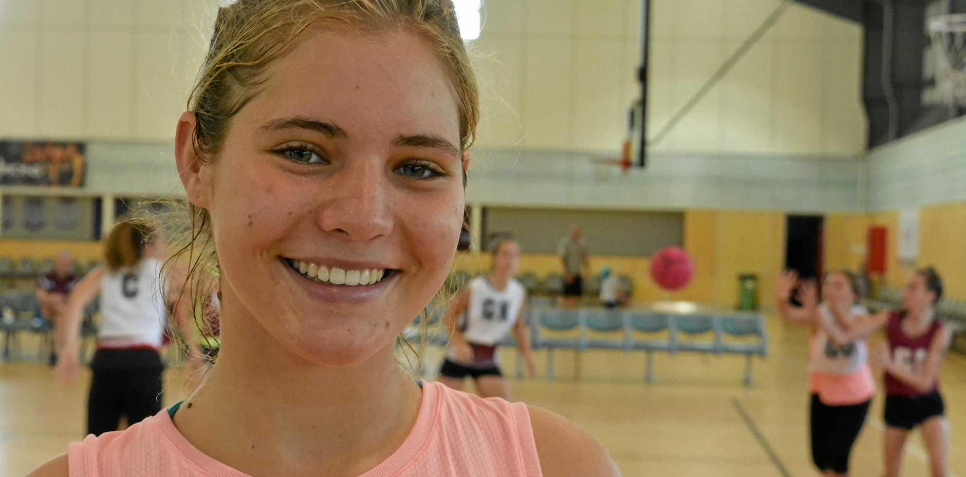 SHARP SHOOTER: Molli Johnson, 15, has made the Sharks squad.