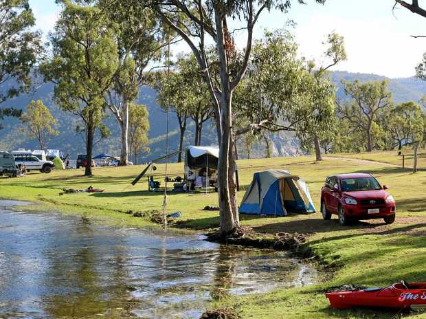 The crash occured near Eungella Dam, a well-known camping and fishing spot.