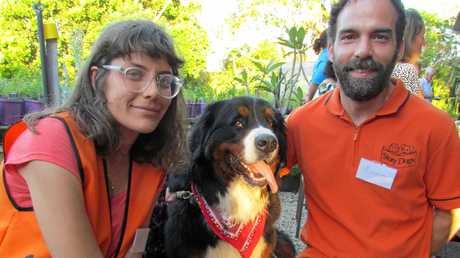 Story Dogs volunteers Rosa Diaferia and Mauro Chiesurin attend the NRCF grants ceremony.