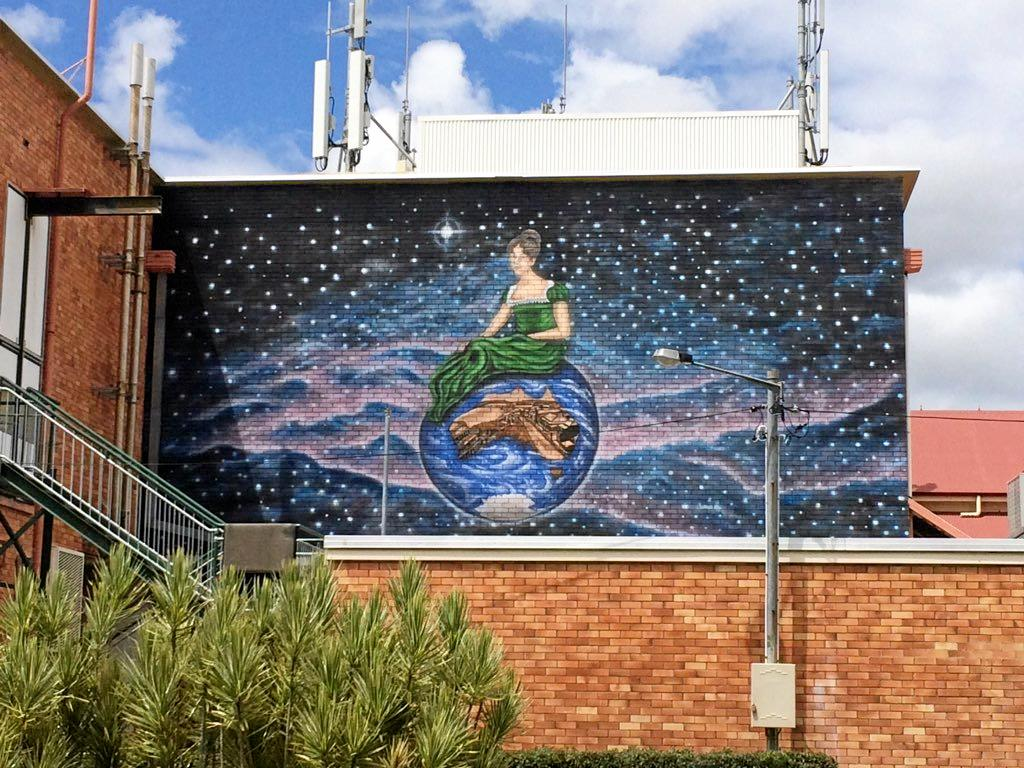 NEW MURAL: The 'Our World' Mural captures the history of Maryborough's naming from Gov Fitzroy in 1847.