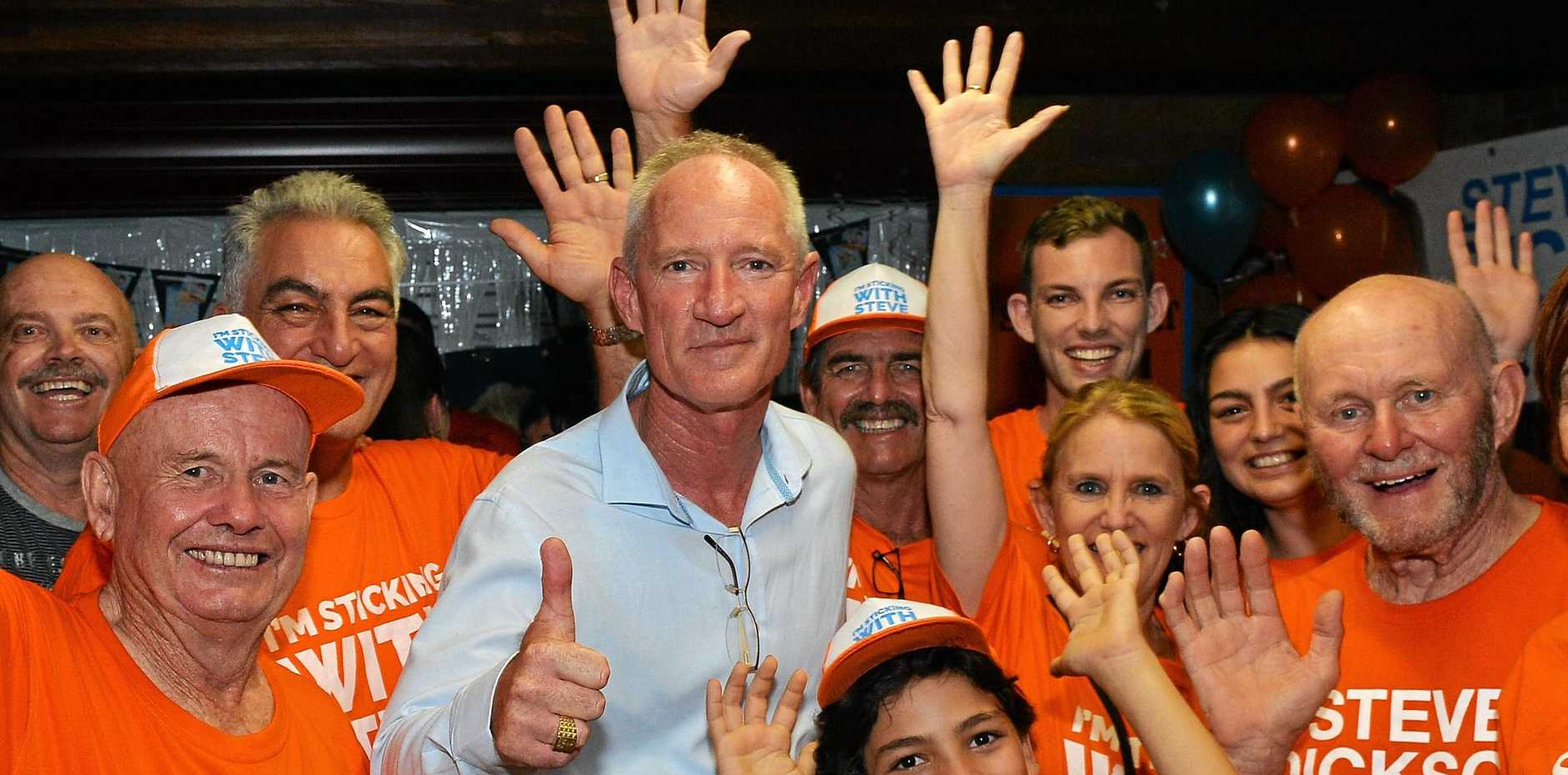 Steve Dickson maintained a brave face Saturday night as Buderim slipped from his grasp but he remains confident One Nation would win a number of seats in the new parliament.