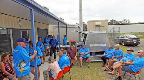 OPEN FOR BUSINESS: The Hervey Bay Amateur Fishing Club's official shed opening