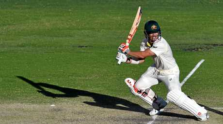 David Warner plays a shot in Australia's dominant win over England in the first Ashes Test match.