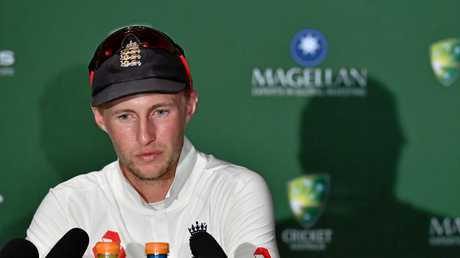 England captain Joe Root fronts the media after losing the first Ashes Test against Australia.