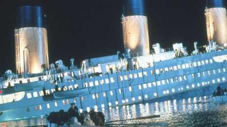 The Titanic sinking.