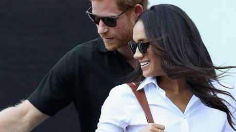 Prince Harry and Meghan Markle attend a Wheelchair Tennis match during the Invictus Games 2017. Picture: Chris Jackson/Getty Images for the Invictus Games Foundation