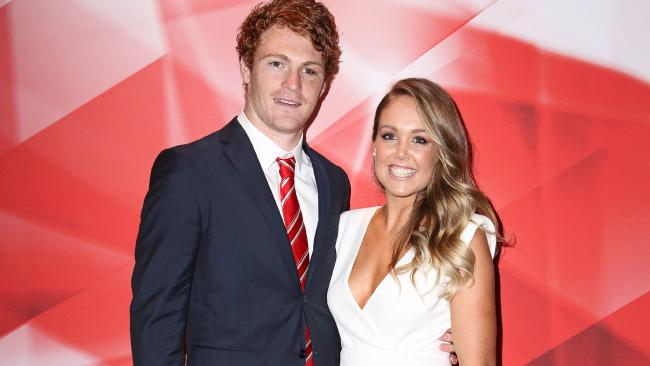 Gary Rohan and wife Amie at the Sydney best and fairest in 2015. Picture: Adam Yip
