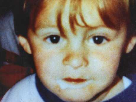 James Bulger was two-years-old when he was abducted and murdered. Picture: News Corp